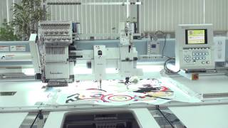 видео Одноголовочные вышивальные машины Barudan