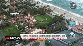 Palm Beach to allow Trump to land helicopter
