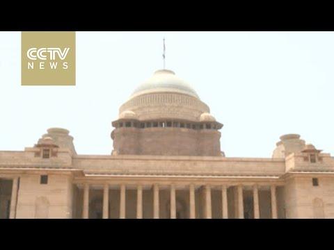 CCTV tours Indian Presidential Residence in New Delhi
