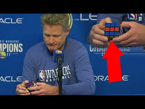 Steve Kerr Solves A Rubik's Cube When Asked About Steph Curry's Status