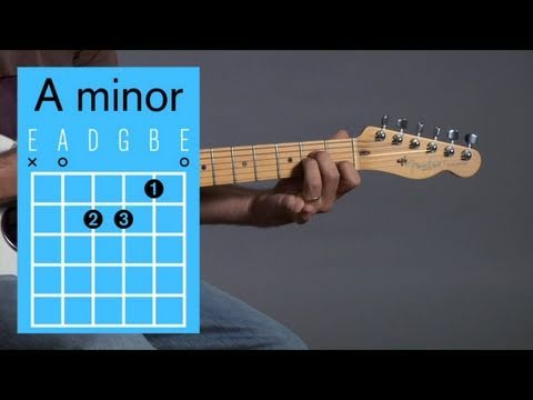 How to Play an A Minor Open Chord   Guitar Lessons - YouTube