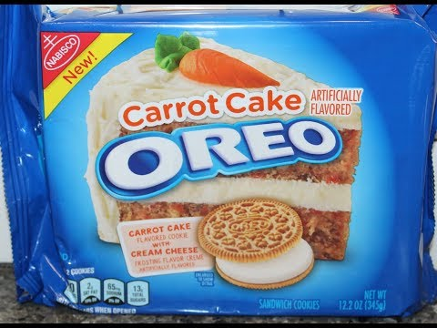 Carrot Cake Oreo Cookie Review Youtube