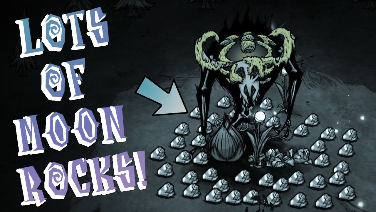 Don T Starve Together Moon Rock Farm Using The Reanimated Skeleton Youtube