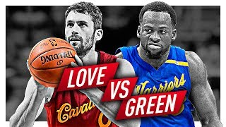 Draymond Green vs Kevin Love BATTLE Highlights from 2016-2017 Season! (Defense Included)