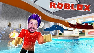 Roblox: KAAN IN THE NEW SUPER FUN WATERPARK! WITH THE HIGHEST RUTSCHE ON THE WORLD Swimming Pool Simulator