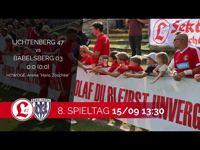 Regionalligateam: Spielszenen Lichtenberg 47 – Babelsberg 03