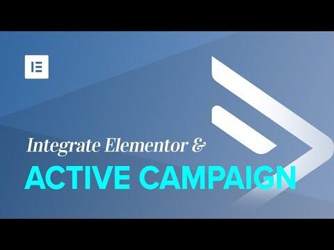 ActiveCampaign & Elementor Integration - Docs | Elementor