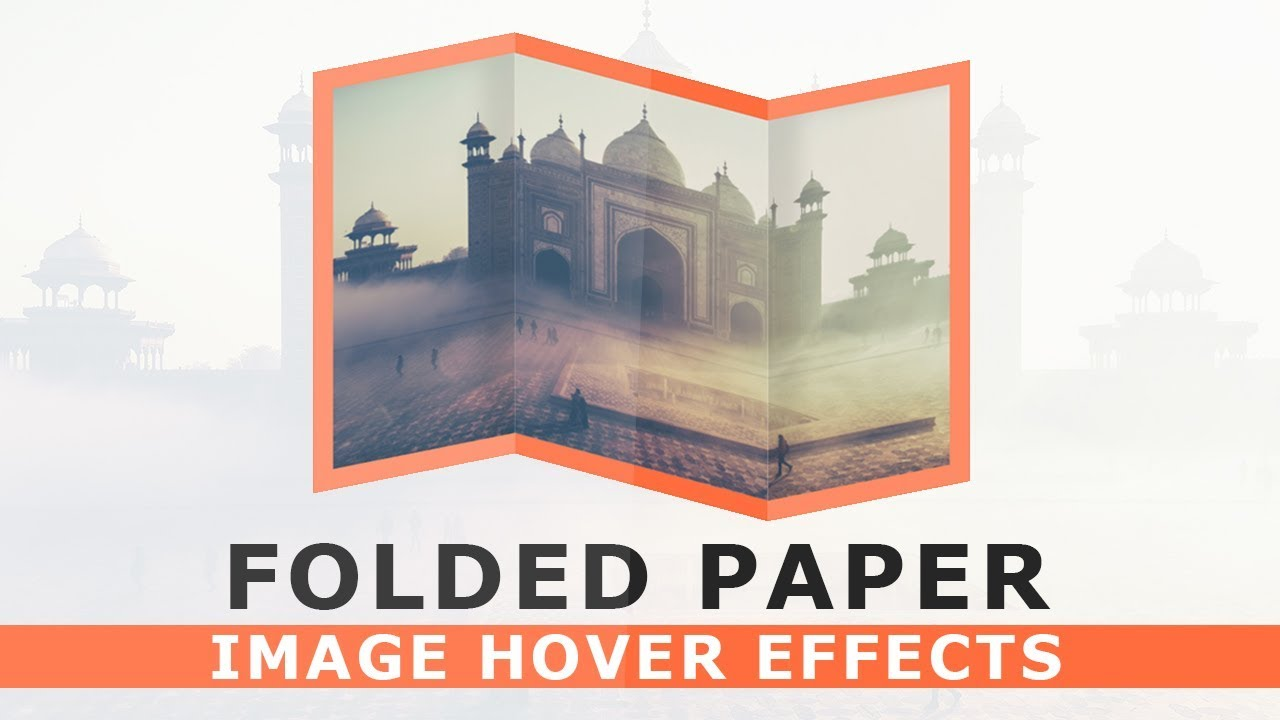 CSS Paper Folded Image Hover Effects - Pure CSS 3D Folded Paper