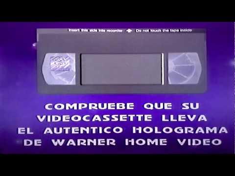 Aviso legal de Warner home vídeo. VHS