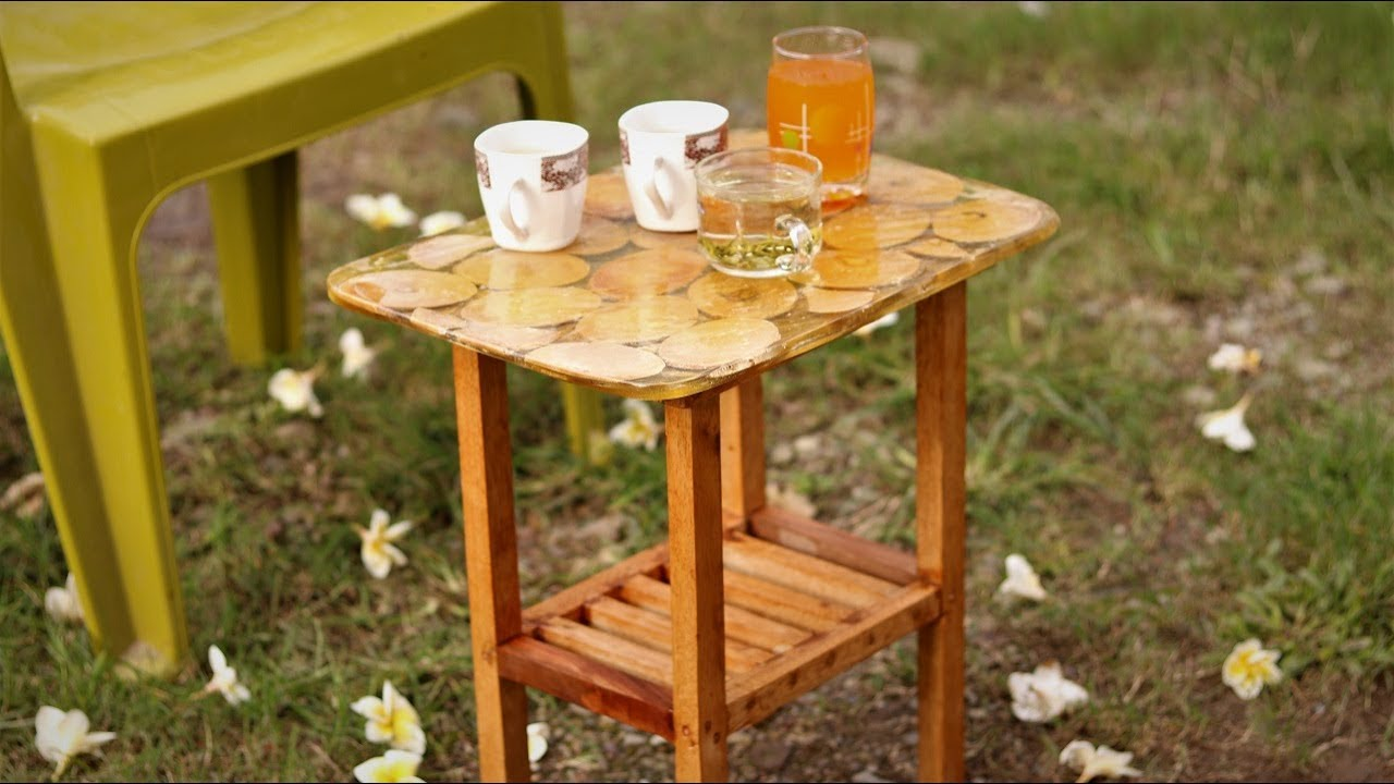 How to Make a Simple Decorative Resin stool at Home . | DIY |