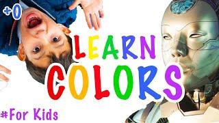 Учим цвета. Дети учится рисовать вместе с Няня-Дроид Стефо и Стефаном | Для детей colors