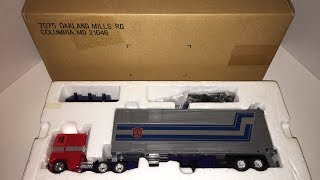 Vintage 1980's G1 Transformers Mail Away G1 Optimus Prime - Unboxing Video