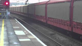 EWS 66113 Empty Car Transporters at Coventry