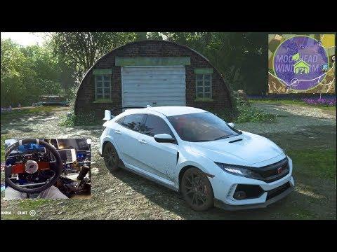 Forza Horizon 4 - 2018 Honda Civic Type R + SPRING Barn Find Location (Fanatec Wheel) | SLAPTrain thumbnail