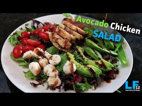 Avocado Chicken Salad Healthy Recipe!