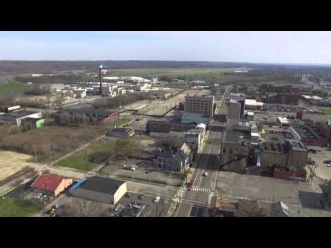 Drone Video Footage of Downtown Middletown Ohio