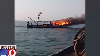 Fire occurs in Boat