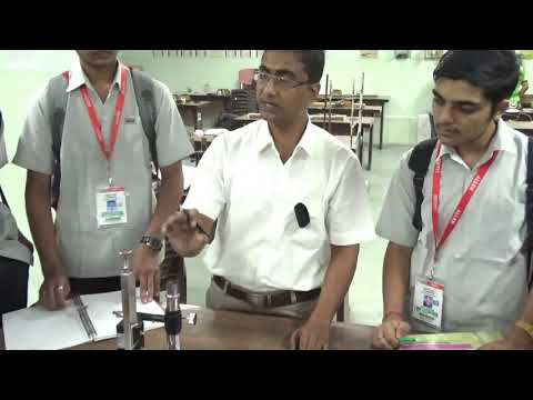 travelling microscope practical demonstration