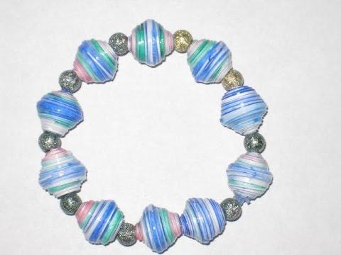 Easy Paper Bead Bracelet
