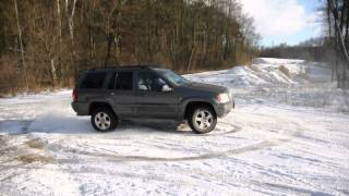 jeep grand cherokee wj wg 4 7 v8 h o donuts at winter playground