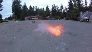 4th of July 2018, firework fail.