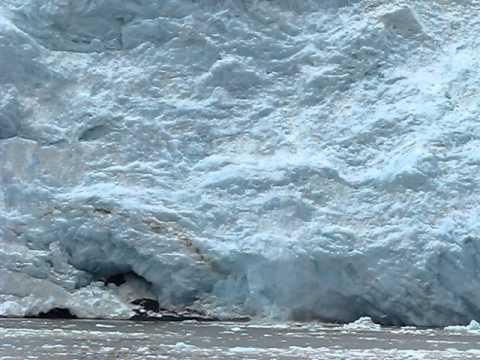 Kenai Fjords glacier rumble and mini-calving