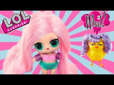 LOL Surprise Series 3 Wave 2 + Chicken With A Wig? LOL Dolls Want A Wig! New Surprise Toys