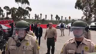Así recibieron a Donald Trump en San Diego