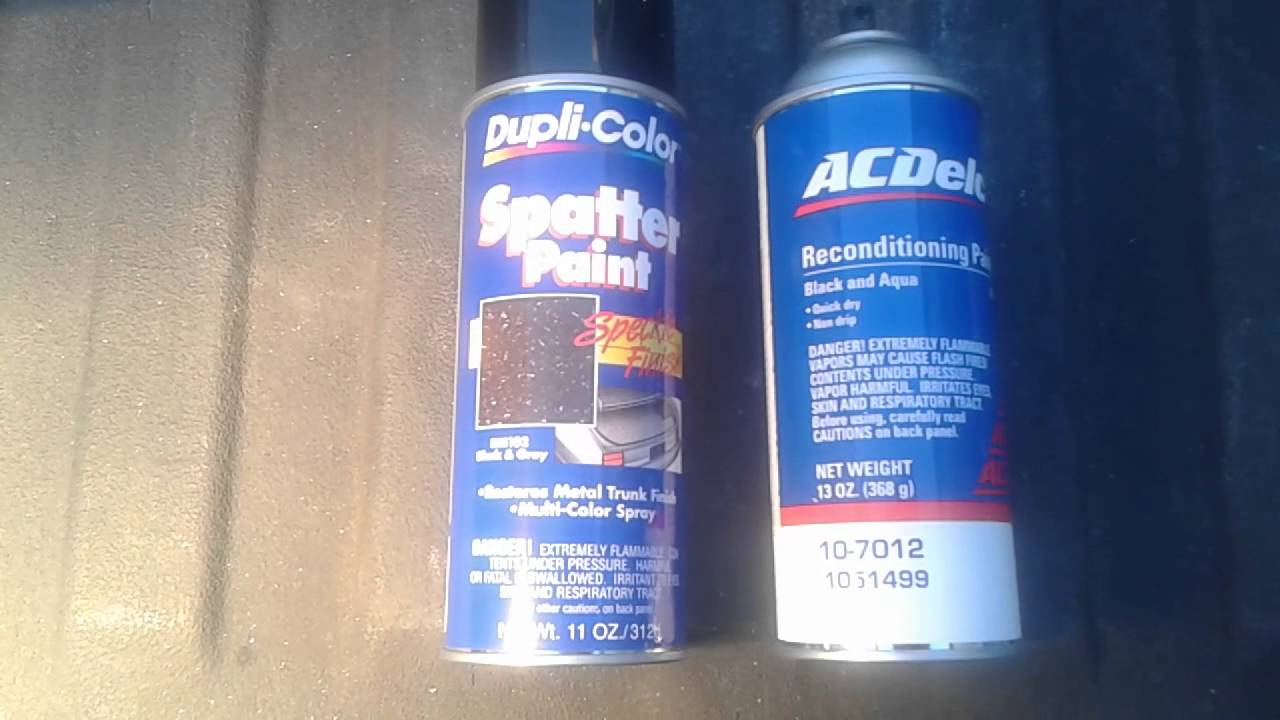 Duplicolor spatter paint - YouTube