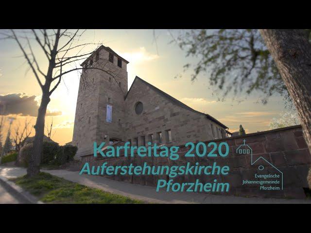 Karfreitag 2020 Johannesgemeinde Pforzheim mit Pfarrerin Heike Springhart