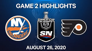 NHL Highlights | 2nd Round, Game 2: Islanders vs. Flyers – Aug. 26, 2020