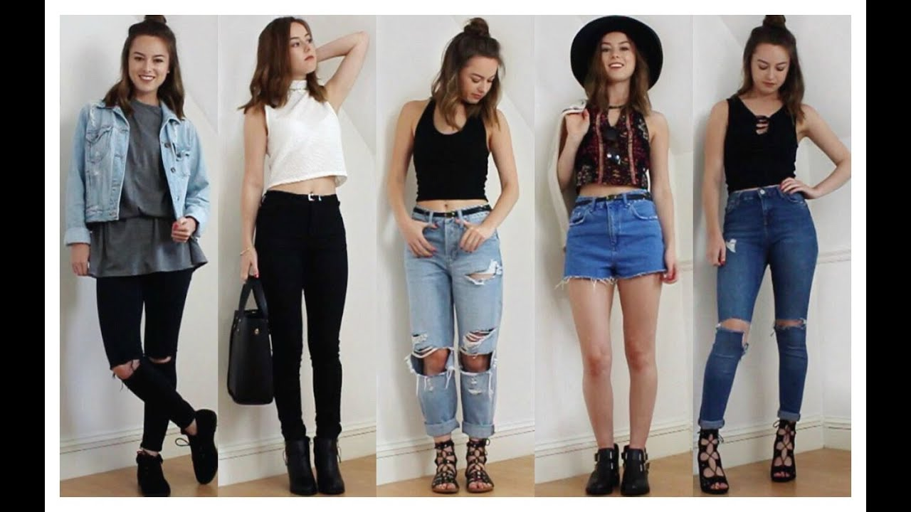 AUGUST OUTFITS OF THE WEEK 2015 - YouTube