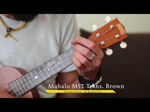 Mahalo MJ2VT Trans Brown Concert Ukulele