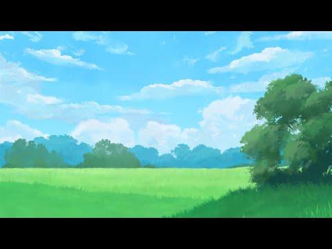 Photoshop Landscape Painting Using TamberElla Foliage and Grass Brushset