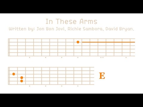 In These Arms (Bon Jovi) Melody On Guitar