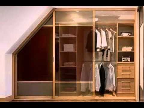 Dormer attic angled wardrobe doors youtube for Bedroom door ideas loft apartment