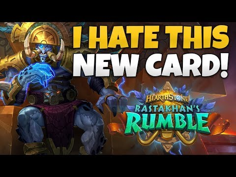I Hate This New Warlock Epic Card! - Rastakhan's Rumble Card Review and Impressions