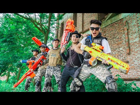 LTT Game Nerf War : Special police Warriors SEAL X Nerf Guns Fight Inhuman Group Armed Bandits