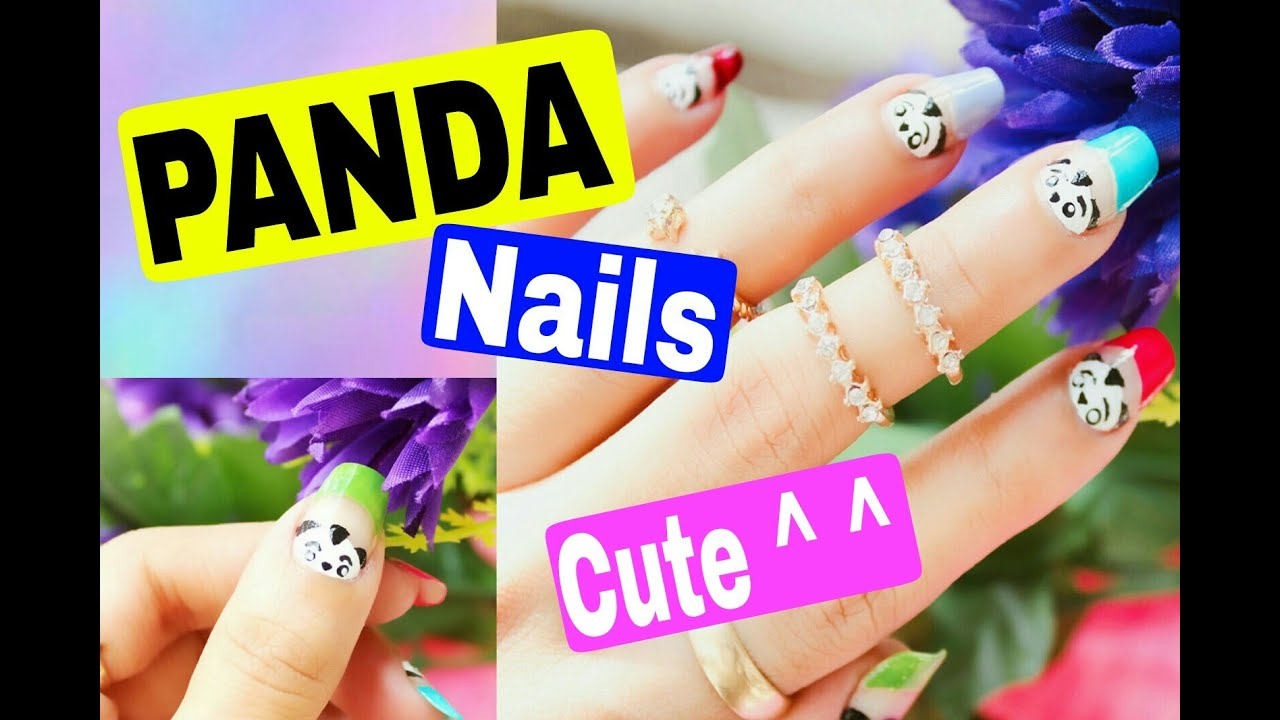 Cute Panda Nail Art Design Easy Amazing Nails Style Small