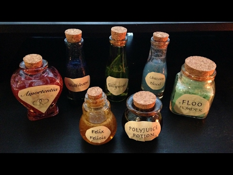 Making DIY Harry Potter Potions Bottles — Just Being Jayla