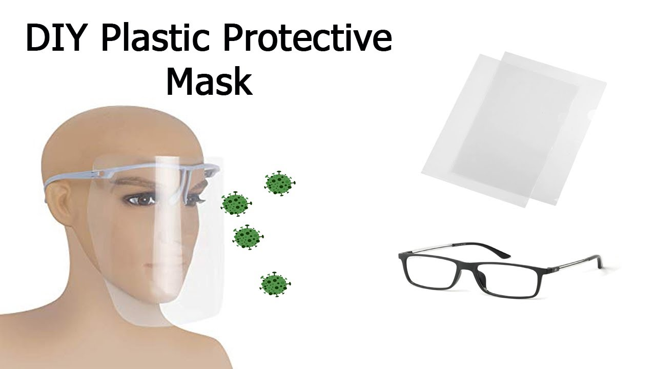 DIY Protective Mask Full Face Shields using Plastic Book Cover