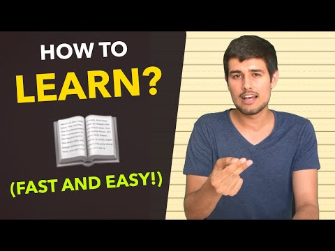 How To Learn Anything Easily And Fast! | By Dhruv Rathee