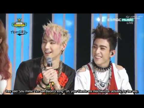 [Eng sub] 120605 JJ Project - interview cut on Show champion