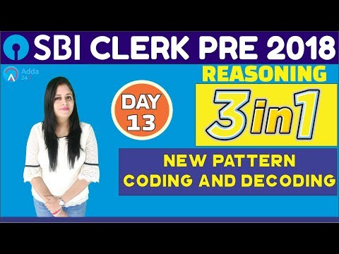 Sbi Clerk Pre 2018  New Pattern Coding And Decoding  Reasoning Tricks  Day13  Youtube