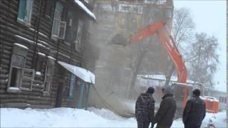 видео Демонтаж деревянного дома