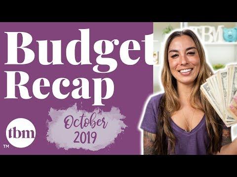 October 2019 Paycheck Budget Recap