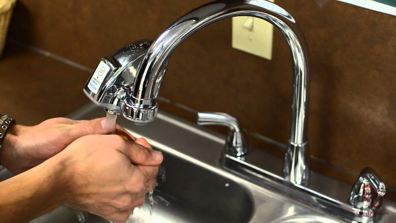 Touch Free Faucet Adapter - YouTube