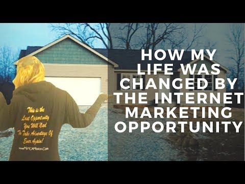 How my life was changed by the Internet Marketing Opportunity! / MCA Proof!