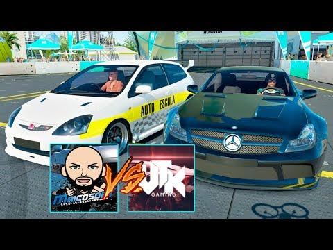 AUTO ESCOLA VS MERCEDES! - DESAFIEI O VTK GAMING NO FORZA HORIZON 3 ONLINE - AO VIVO!!