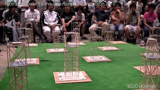 Earthquake-proof toothpick structure construction contest